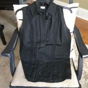 Cabi Black Jagger blouse Button down lace XS